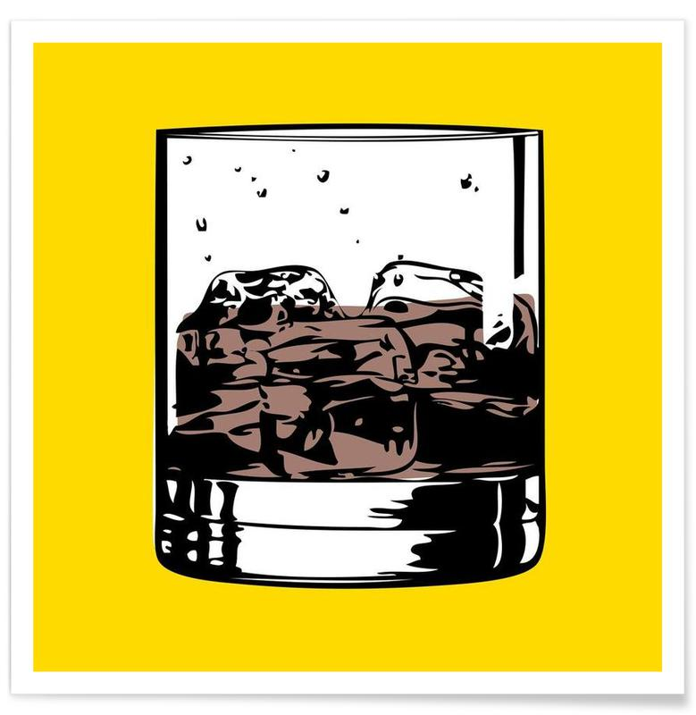Cocktails, Pop Art, Whiskey, Cocktail 4 Poster