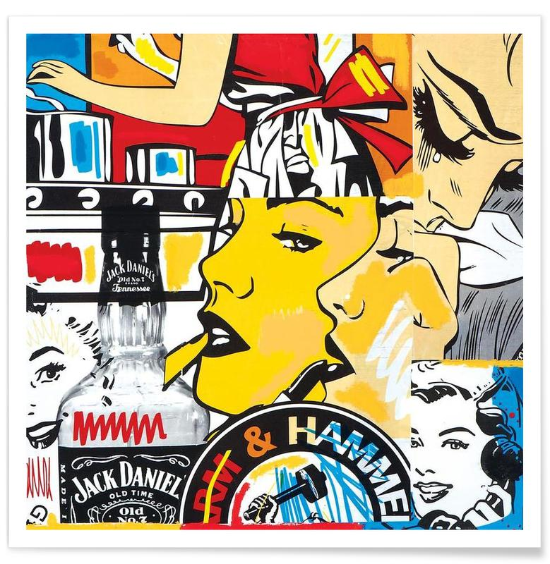 Pop Art, Whiskey, Anxiety Poster