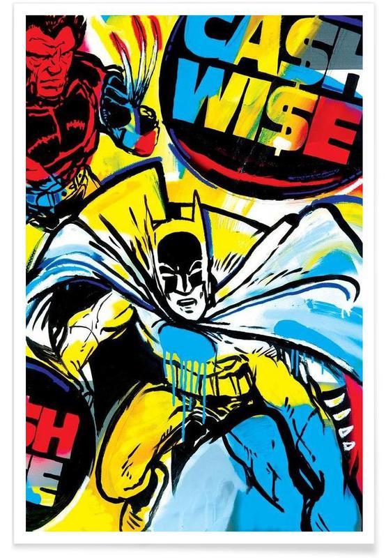 Batman, Pop Art, Cash Wise Poster