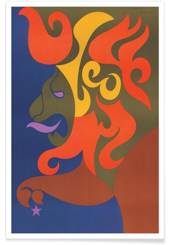 Löwen, Vintage, Vintage-Löwe -Poster