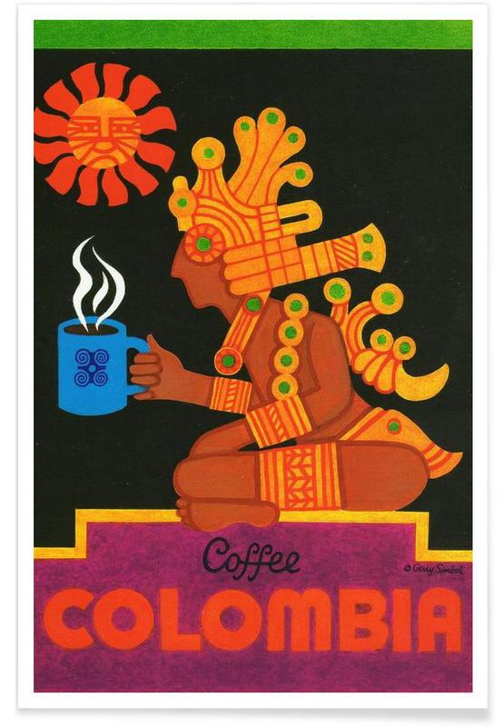 Vintage Colombia Poster