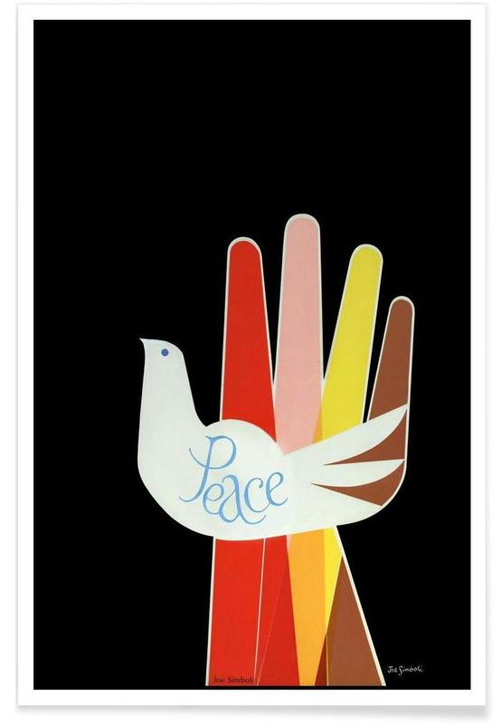 Doves, Vintage Peace Poster