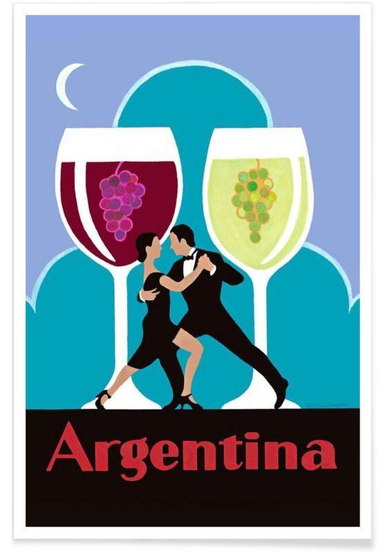 Voyages, Vins, Vintage, Argentine vintage affiche