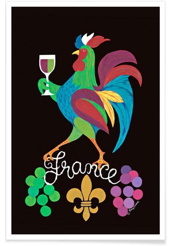 Voyages, Vins, Vintage, France vintage affiche