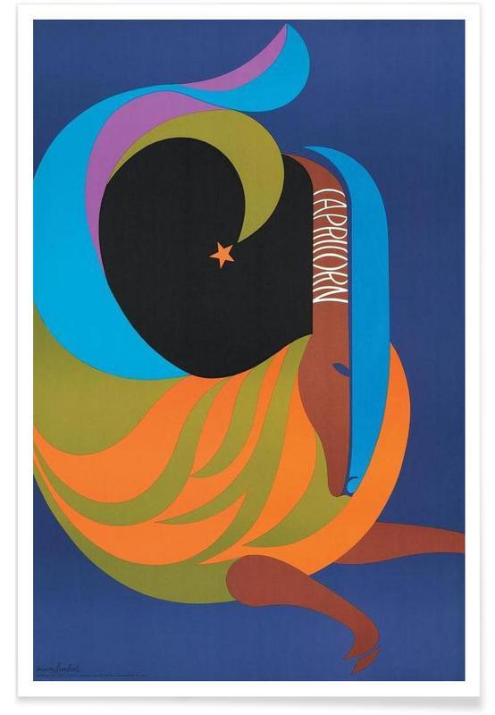 Vintage, Fantasie- & Mischwesen, Vintage-Steinbock -Poster
