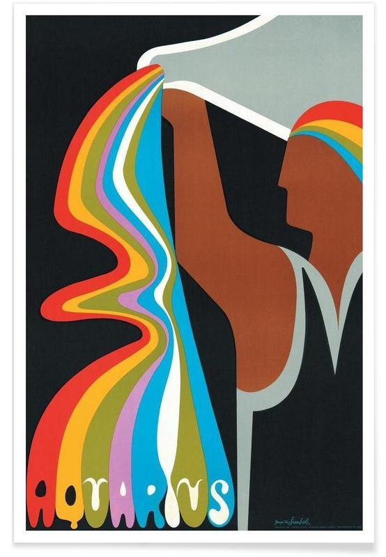 Vintage, Vintage-Wassermann -Poster