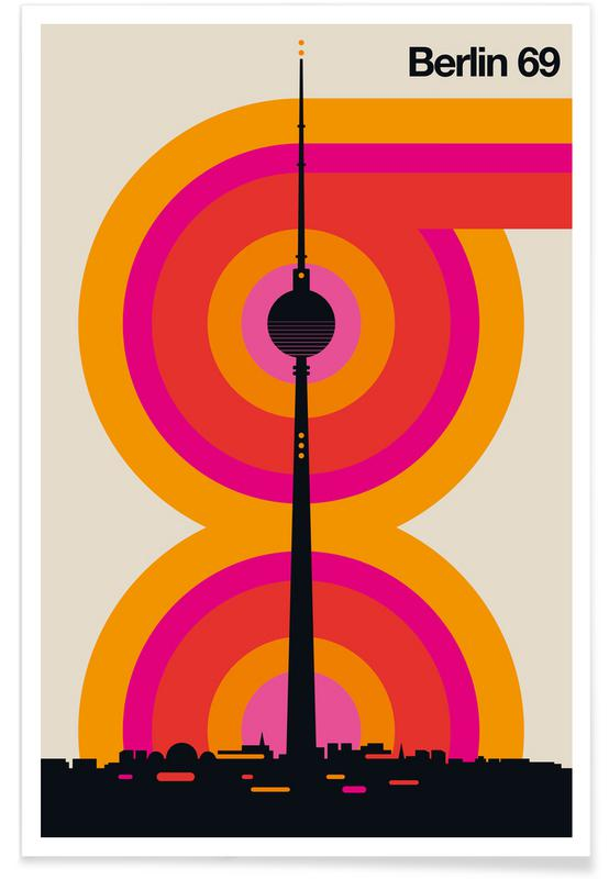 Retro, Berlin, Vintage Berlin 69 Plakat