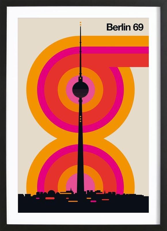 Berlin 69 -Bild mit Holzrahmen