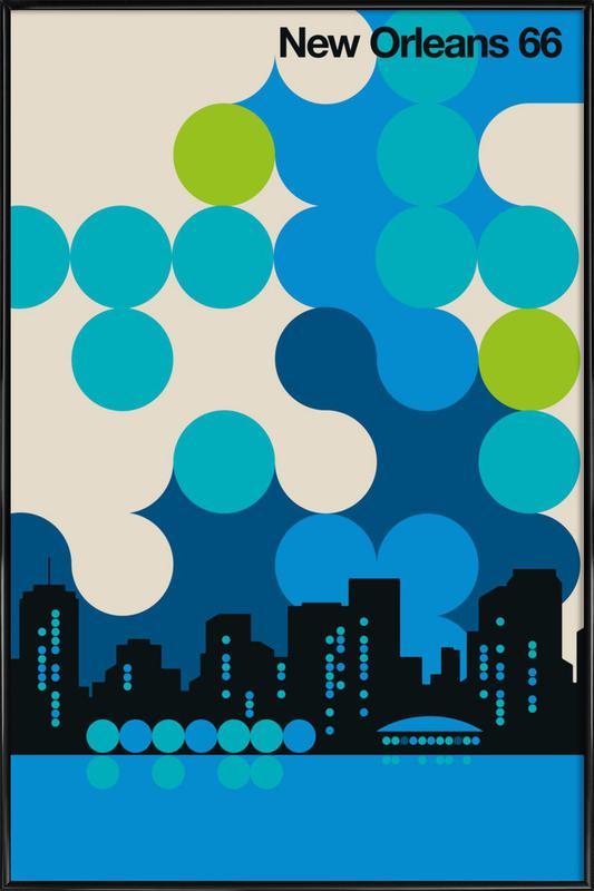 New Orleans 66 Framed Poster