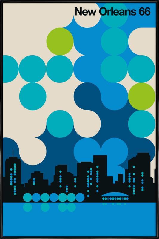 Travel, New Orleans 66 Framed Poster