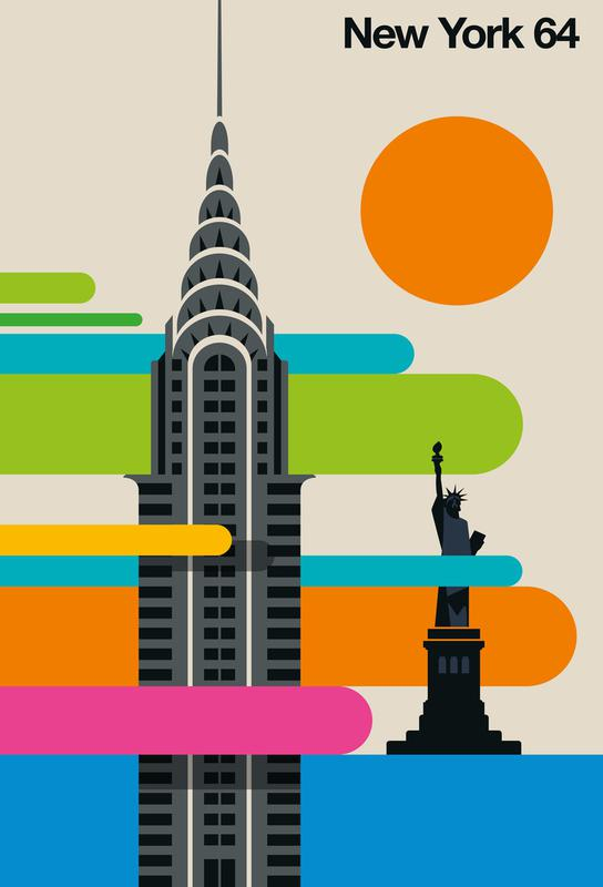 New York 64 -Acrylglasbild