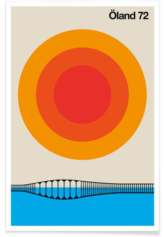 Travel, Vintage Öland 72 Poster