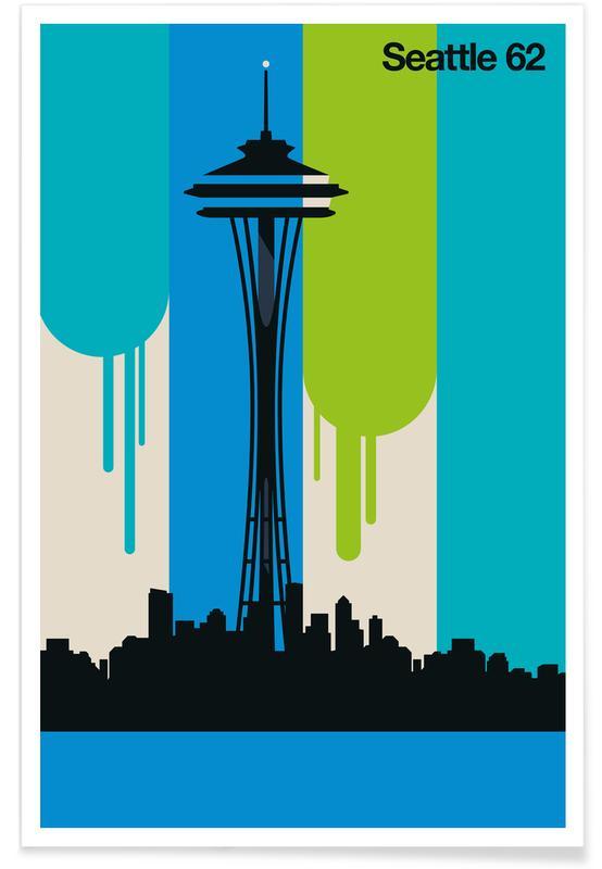 Vintage-Seattle 62 -Poster