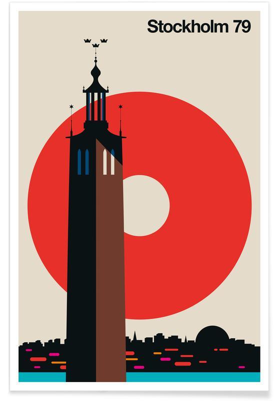 Travel, Stockholm, Vintage Stockholm 79 Poster