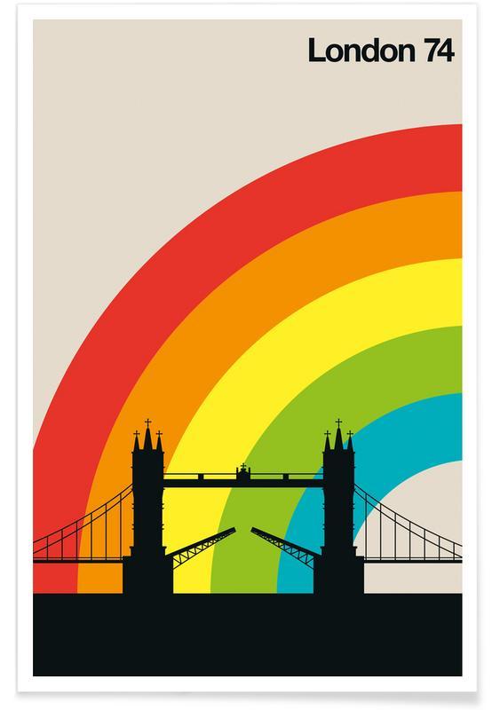 Retro, London, Vintage London 74 Poster