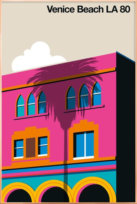 Venice LA 80 -Poster im Alurahmen