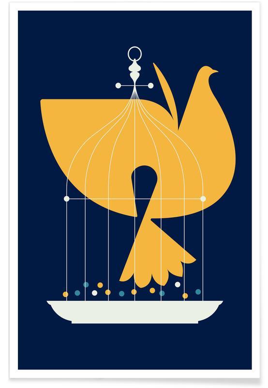 Tauben, Fin Birdcage -Poster