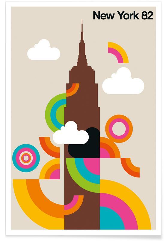 Rétro, New York, New York 82 vintage affiche