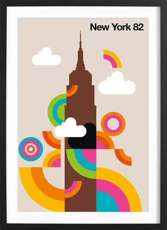 New York 82 -Bild mit Holzrahmen