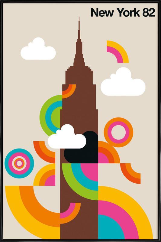 New York 82 affiche encadrée