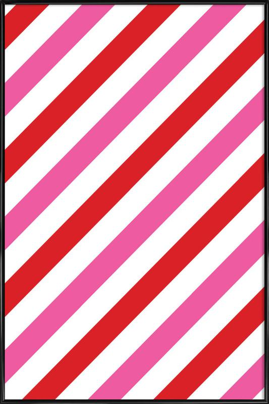 Candy Stripes Framed Poster