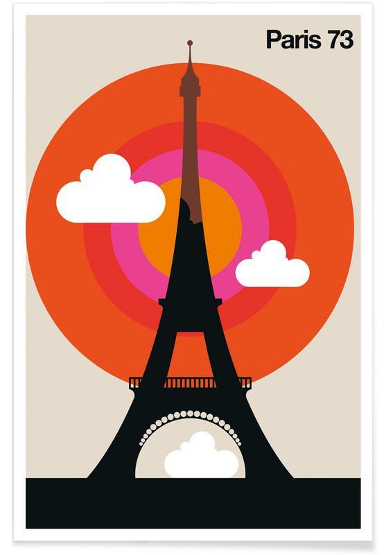 Retro, Paris, Vintage-Paris 73 -Poster