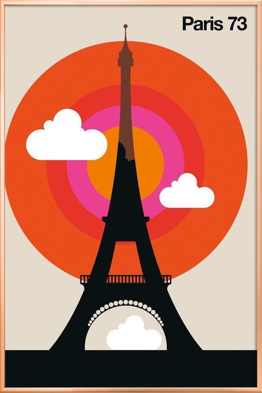 Paris 73 Poster in Aluminium Frame