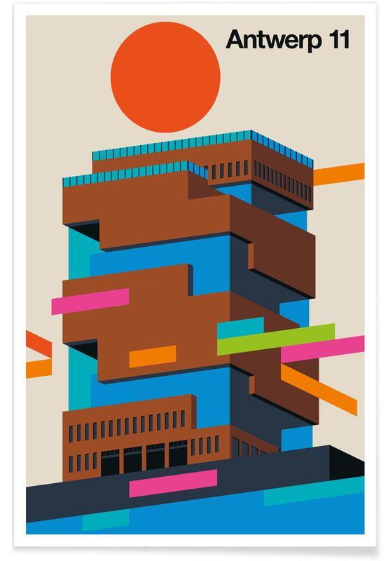 Skyscrapers & High-Rises, Antwerp 11 Poster