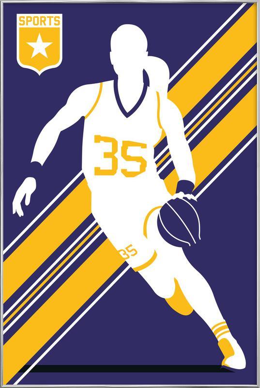 Basketball 3 Poster in Aluminium Frame