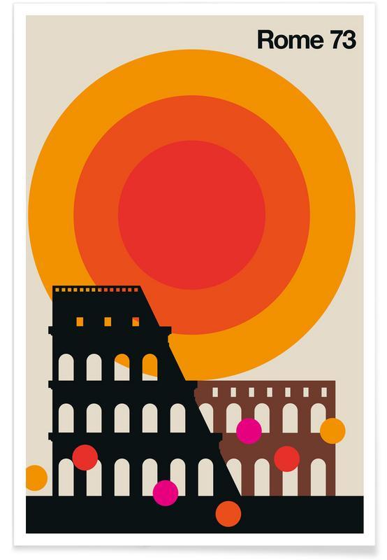 Rome, Retro, Vintage Rome 73 Poster