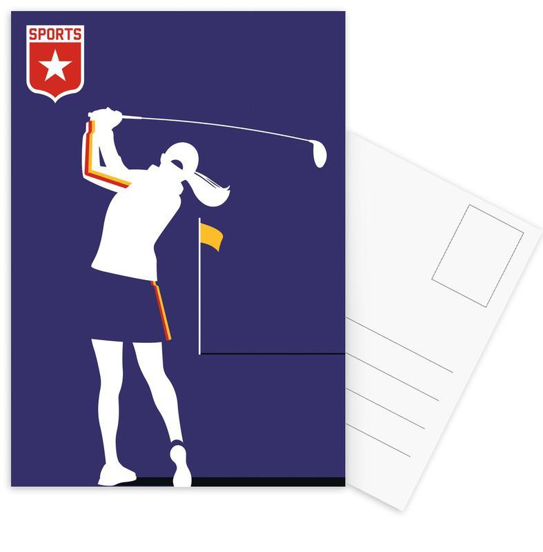 Golf, Golfer 2 Postcard Set
