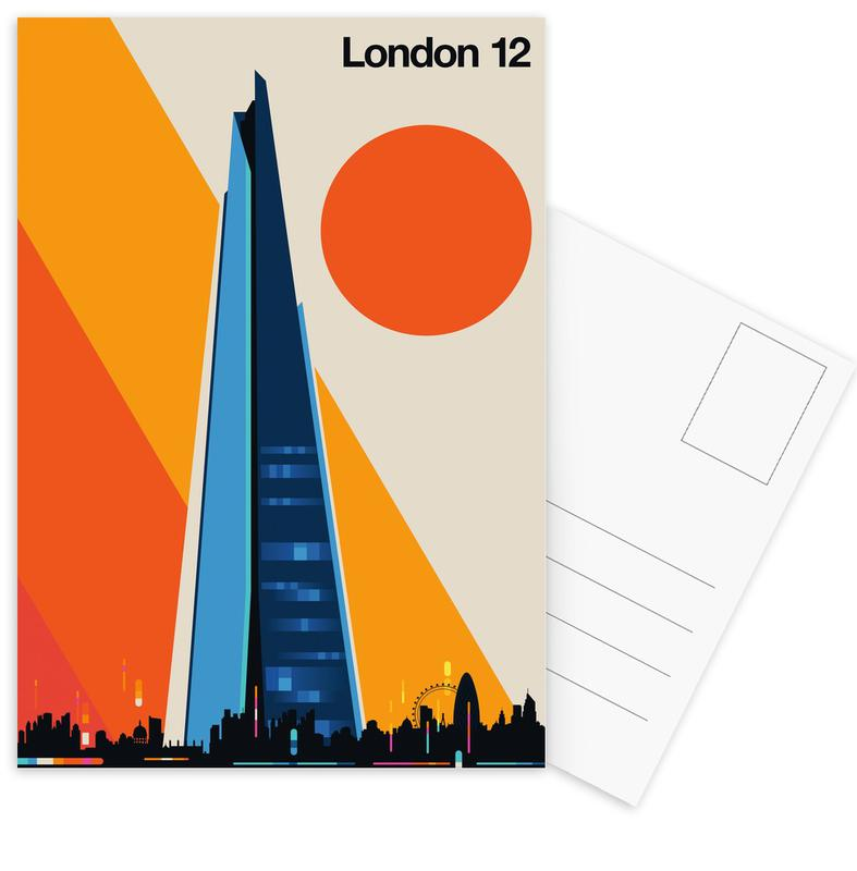 London, Sights & Landmarks, London 12 Postcard Set