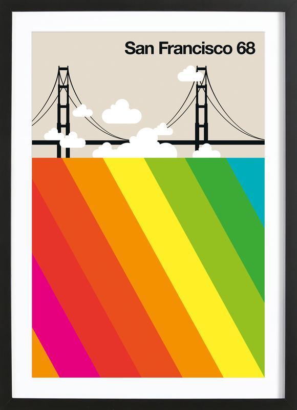 San Francisco 68 ingelijste print