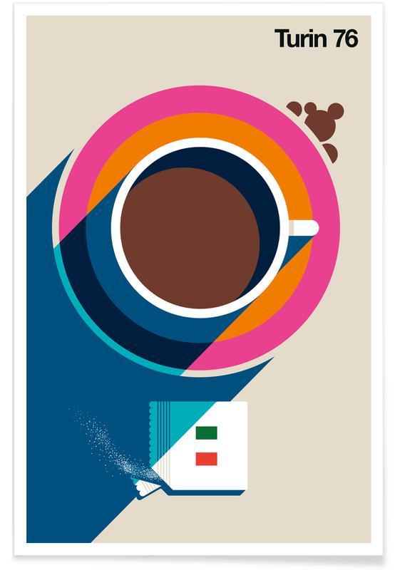 Kaffee, Reise, Turin 76 -Poster