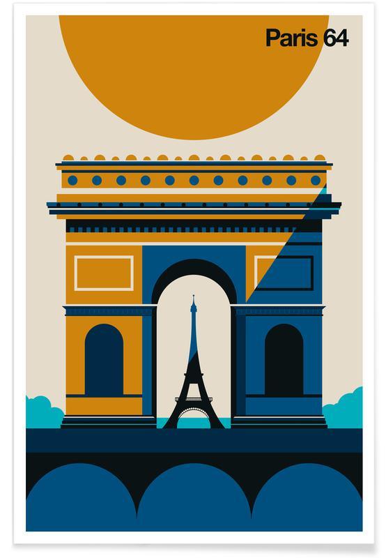 Paris, Reise, Paris 64 -Poster