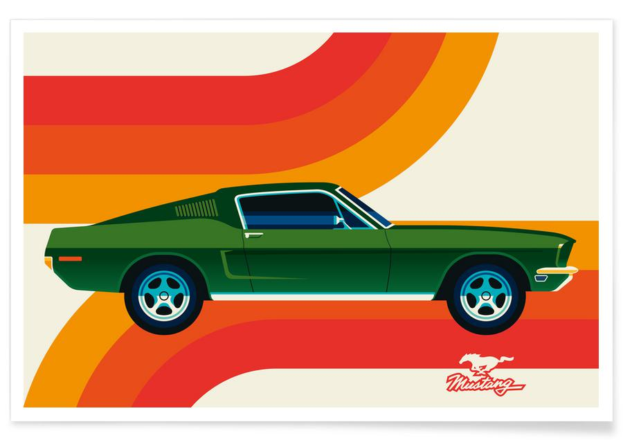 Cars, Ford Mustang Poster