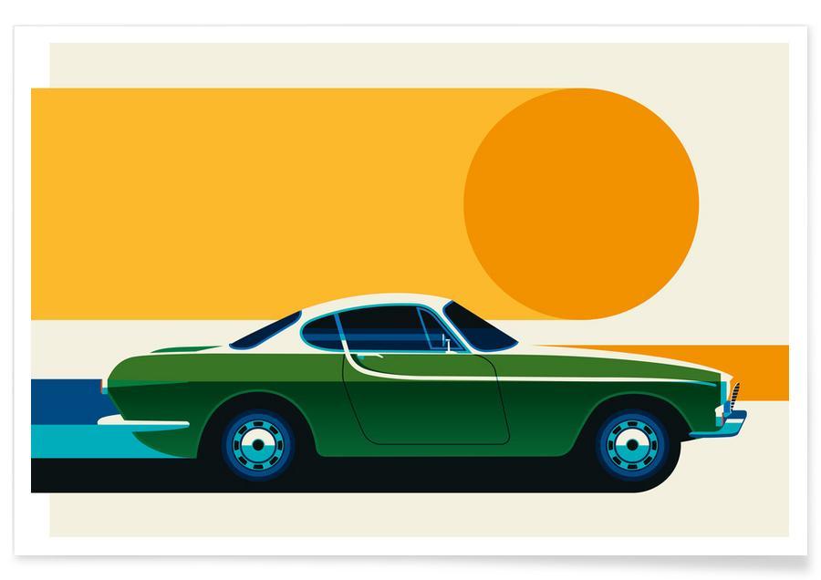 Voitures, Volvo P1800 Side affiche