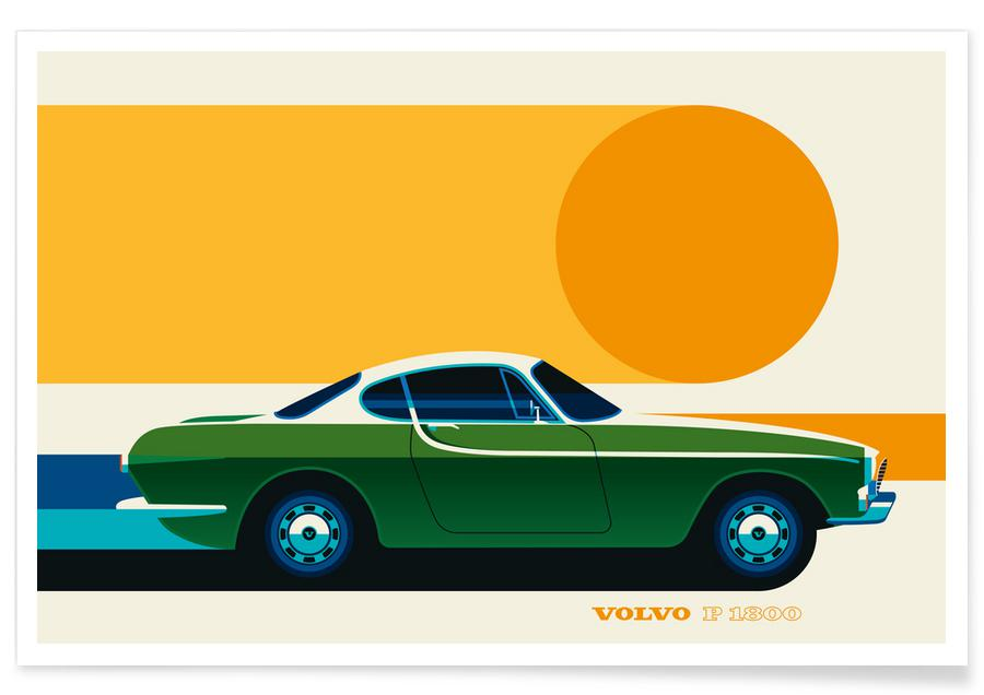 Cars, Volvo P1800 Side Poster