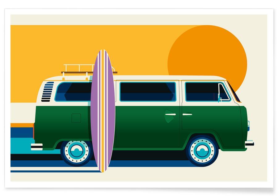Autos, Volkswagen Camper -Poster
