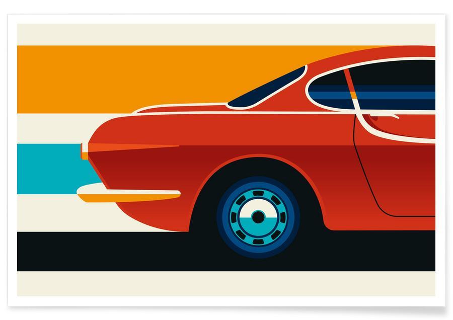 Voitures, Volvo P1800 Back affiche