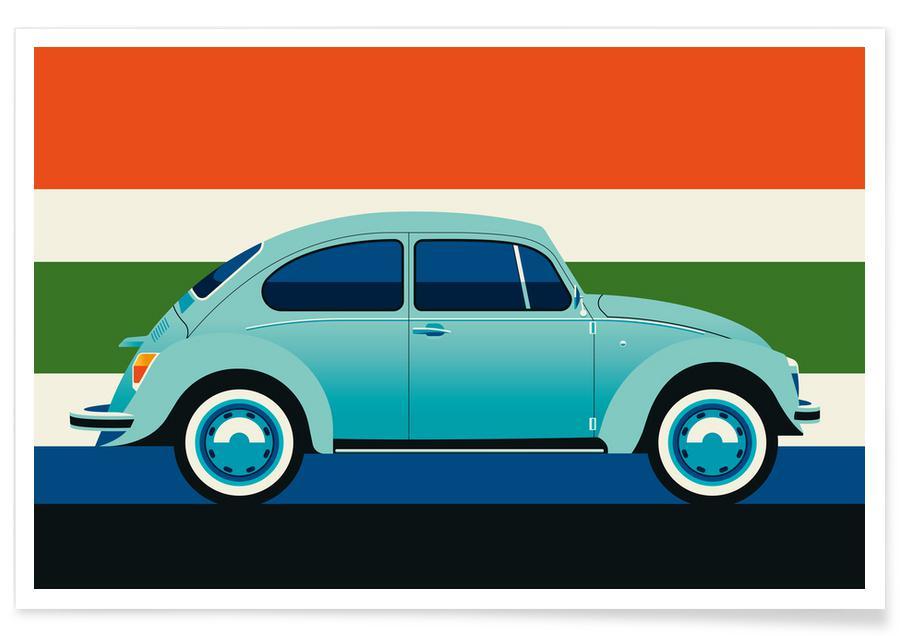 Autos, Volkswagen Beetle -Poster