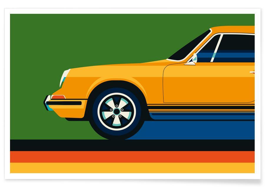 Voitures, Porsche Front affiche
