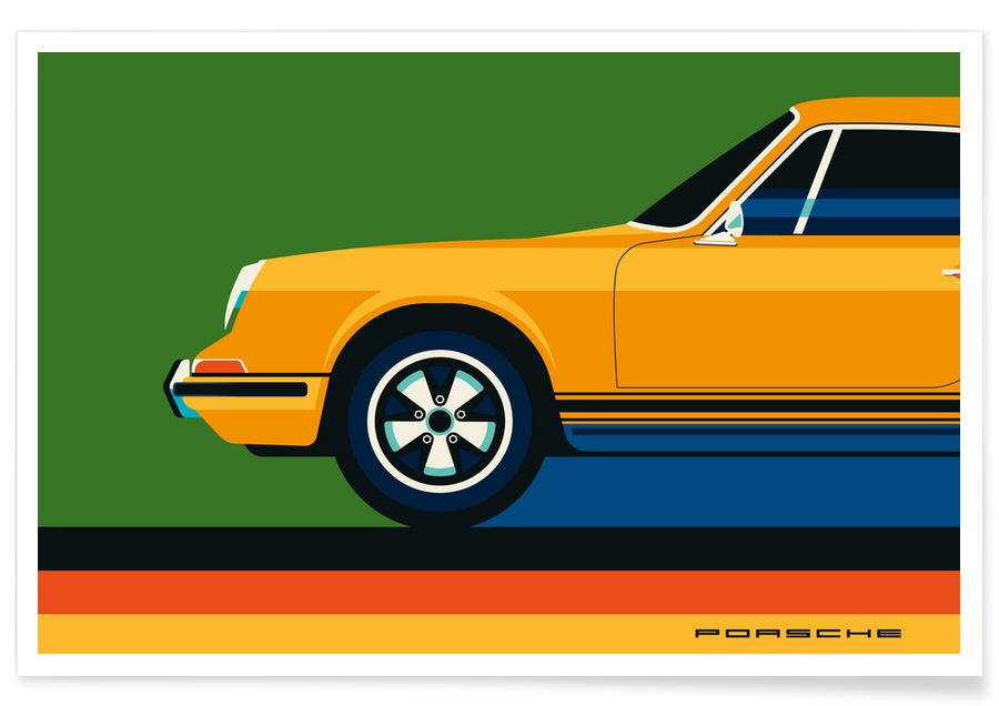 Cars, Porsche Front Poster