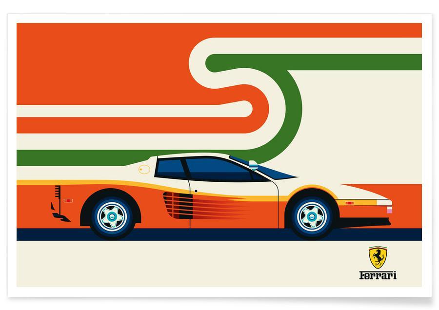 Voitures, Ferrari Side affiche