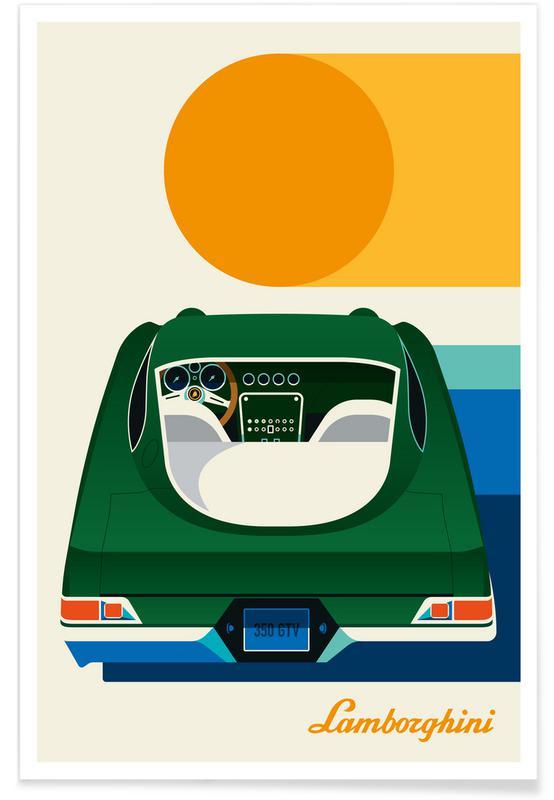Voitures, Lamborghini affiche