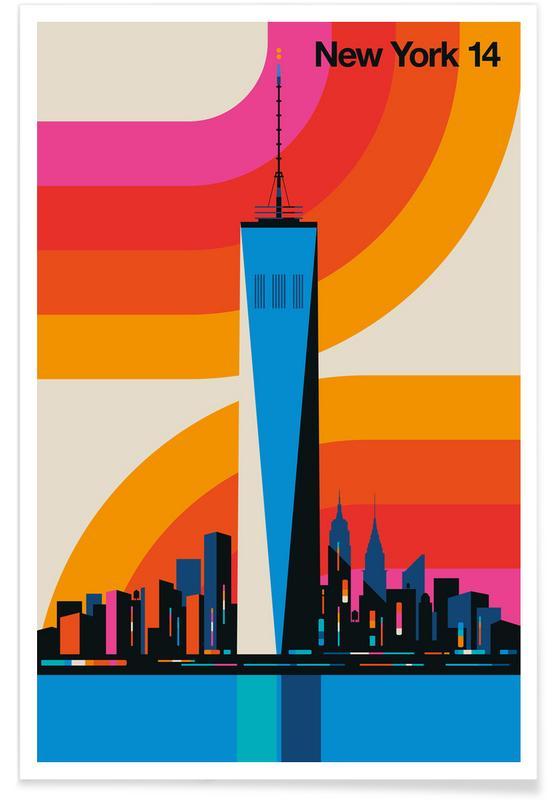 Voitures, New York 14 affiche