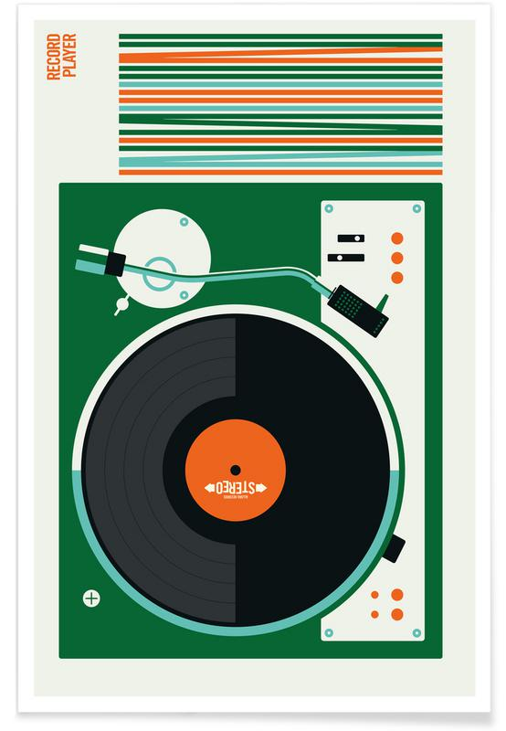 Voitures, Icons Record Player affiche