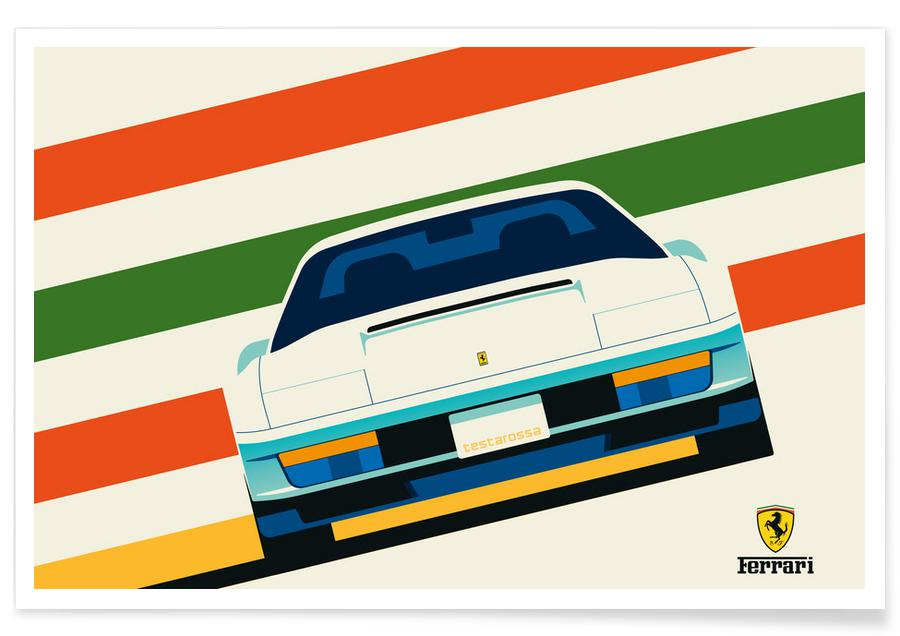 Voitures, Ferrari Front affiche