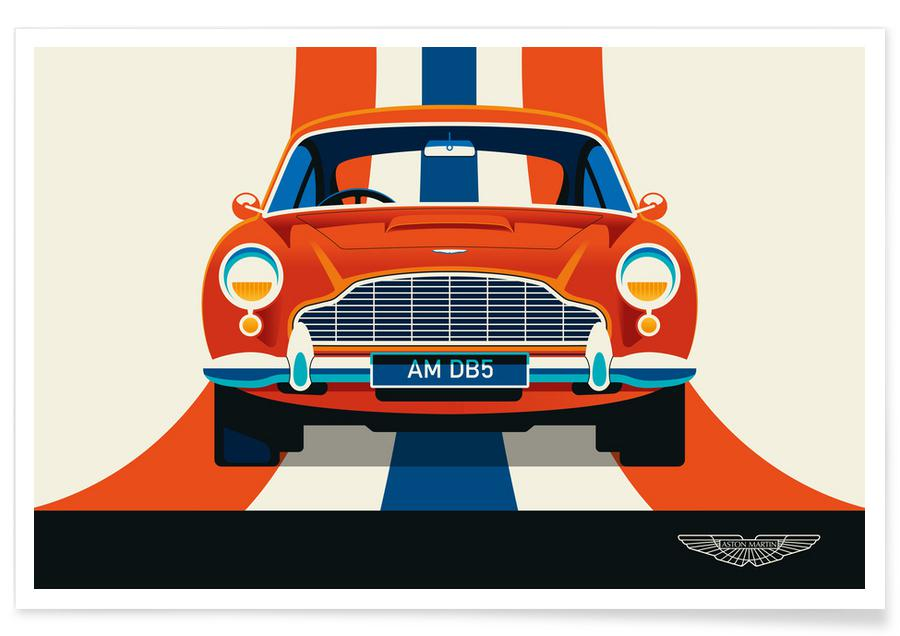 Cars, Aston Martin Poster