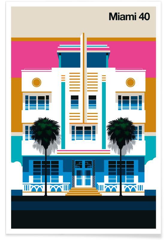 Autos, Miami 40 -Poster